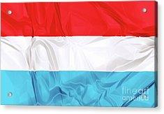 Flag Of Luxembourg Acrylic Print