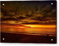 Flaming Sunset Acrylic Print by Joseph Hollingsworth