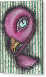 Flamingo Acrylic Print by Abril Andrade Griffith