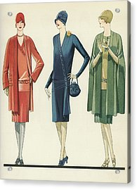 Flappers In Frocks And Coats, 1928 Acrylic Print