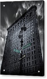 Acrylic Print featuring the photograph Flatiron Noir by Jessica Jenney