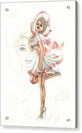Flirtation In The Breeze Acrylic Print by Scarlett Royal