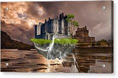 Floating Castle Acrylic Print by Marvin Blaine