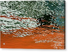 Acrylic Print featuring the photograph Floating On Blue 43 by Wendy Wilton