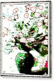 Floral Design Acrylic Print by HollyWood Creation By linda zanini