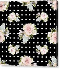 Floral Rose Cluster W Dot Bedding Home Decor Art Acrylic Print