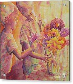 Flower Arranging Acrylic Print