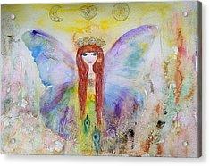 Flower Fairy  Acrylic Print