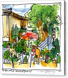 Flower Market Paris Acrylic Print