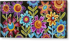 Acrylic Print featuring the painting Flower Power by Carla Bank