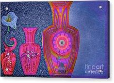 Acrylic Print featuring the digital art Flower Power by Eleni Mac Synodinos