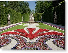 Flowerbeds And Sculptures In Eastern Parterre Acrylic Print