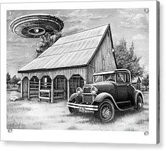 Flying Saucer Acrylic Print