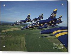 Flying With The Aero L-39 Albatros Acrylic Print by Daniel Karlsson