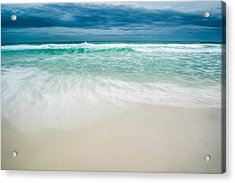 Foaming Waves Acrylic Print by Shelby  Young