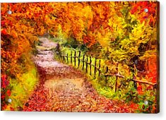 Fall Foliage Path 2 Acrylic Print