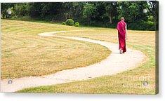 Following Buddha Acrylic Print by Sophie De Roumanie