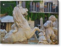 Fontana Dei Calderari Acrylic Print by JAMART Photography