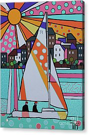 For Sail Acrylic Print by Tim Ross
