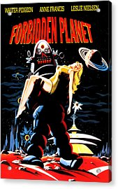 Forbidden Planet, Robby The Robot Acrylic Print by Everett