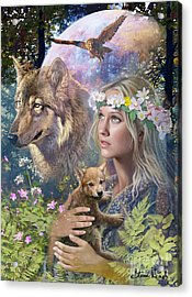 Forest Friends Acrylic Print