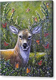 Forest Monarch Acrylic Print by Gail Butler