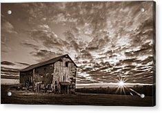 Forgotten Dreams On Pickup Hill - Bw Acrylic Print by Chris Bordeleau