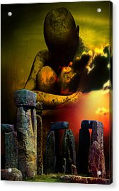 Acrylic Print featuring the digital art Forgotten Past by Shadowlea Is