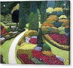 Formal Gardens Acrylic Print by Frederic Kohli