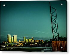 Fortworth Texas Cityscape Acrylic Print