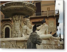 Fountain Of Orion Acrylic Print by Cendrine Marrouat