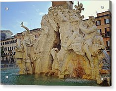 Four Rivers Fountain Acrylic Print by JAMART Photography