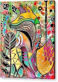 Fox Acrylic Print by Amy Sorrell