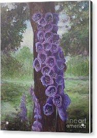 Acrylic Print featuring the painting Foxglove by Randol Burns