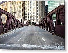 Franklin Orleans Street Bridge Chicago Loop Acrylic Print