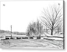 Franklin Park Acrylic Print by Takao Shinzawa