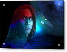 Acrylic Print featuring the digital art Free Spirit by Shadowlea Is