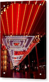 Fremont Street Las Vegas Acrylic Print by Bill Buth