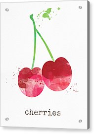 Fresh Cherries Acrylic Print by Linda Woods