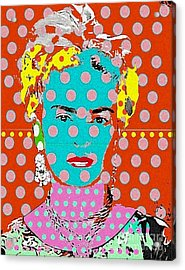 Frida Acrylic Print by Ricky Sencion
