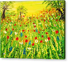 Acrylic Print featuring the painting From The Valley by Evelina Popilian