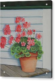 Front Porch Geraniums Acrylic Print