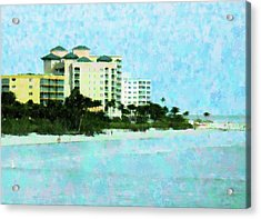 Ft Myers Beachfront Acrylic Print by Florene Welebny