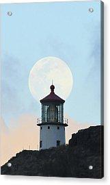 Full Moon Over Makapu'u Light Acrylic Print