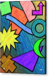 Funky Fanfare Acrylic Print by Kyle West
