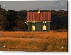 Gamecock Cottage Stony Brook New York Acrylic Print by Bob Savage