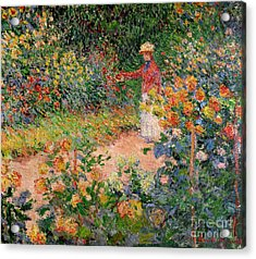 Garden At Giverny Acrylic Print