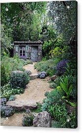Garden Cottage Acrylic Print
