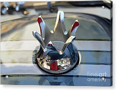 Gas Cap On Harley-davidson Motorcycle Acrylic Print by George Atsametakis