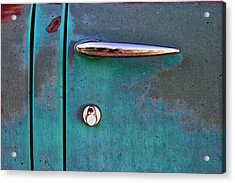 Gasoline Alley Faded Paint And Rust Acrylic Print
